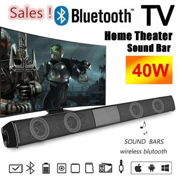 2020 altoparlanti SoundBar Bluetooth altoparlante Bluetooth cablato e Wireless Home Theater TV soundbar subwoofer con telecomando