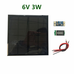 Image 3 - 6V 3W 9V 2W 12V 2W 3W Solar panel with Solar min battery charger with battery display DIY KIT PH 2.0 Cable