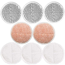 8 Pack Mop Pads Replacement for Bissell Spinwave 2039A 2124 (Included 3 Soft Pads+3 Scrubby Pads+2 Heavy Scrub