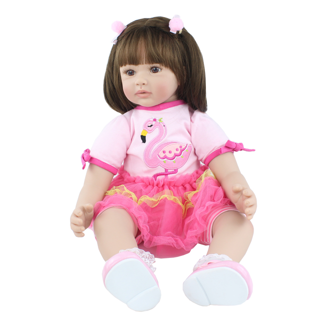 60cm Silicone Reborn Toddler Doll Toys 24 Vinyl Princess Babies Alive Girl Baby Play House Toy