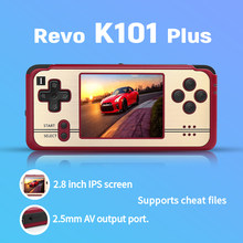 Open source, retro jogo revo k101 mais retro handheld 64 bits vídeo game player suporte tv conexão