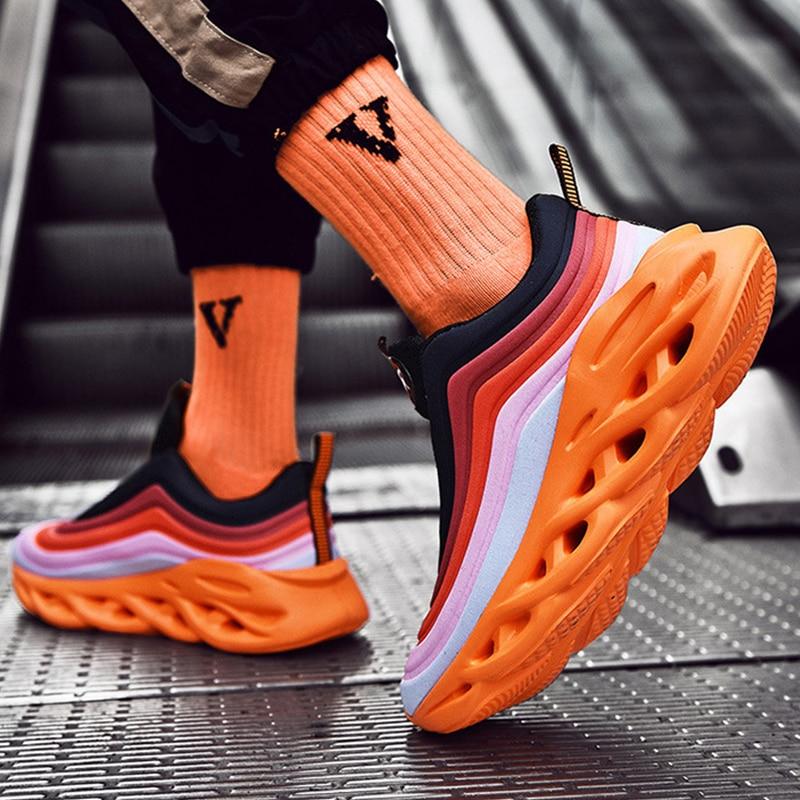 2019 Men Sneakers Twist Sole New Listing Brand Designer Trendy Casual Shoes Durable Outsole Trainer Zapatillas Deportivas Hombre