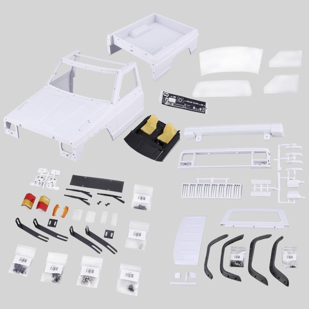 AX-313B 12.3inch/313mm Wheelbase Pickup Body Shell DIY Kit For 1/10 RC Truck Crawler Axial SCX10 & SCX10 II 90046 90047