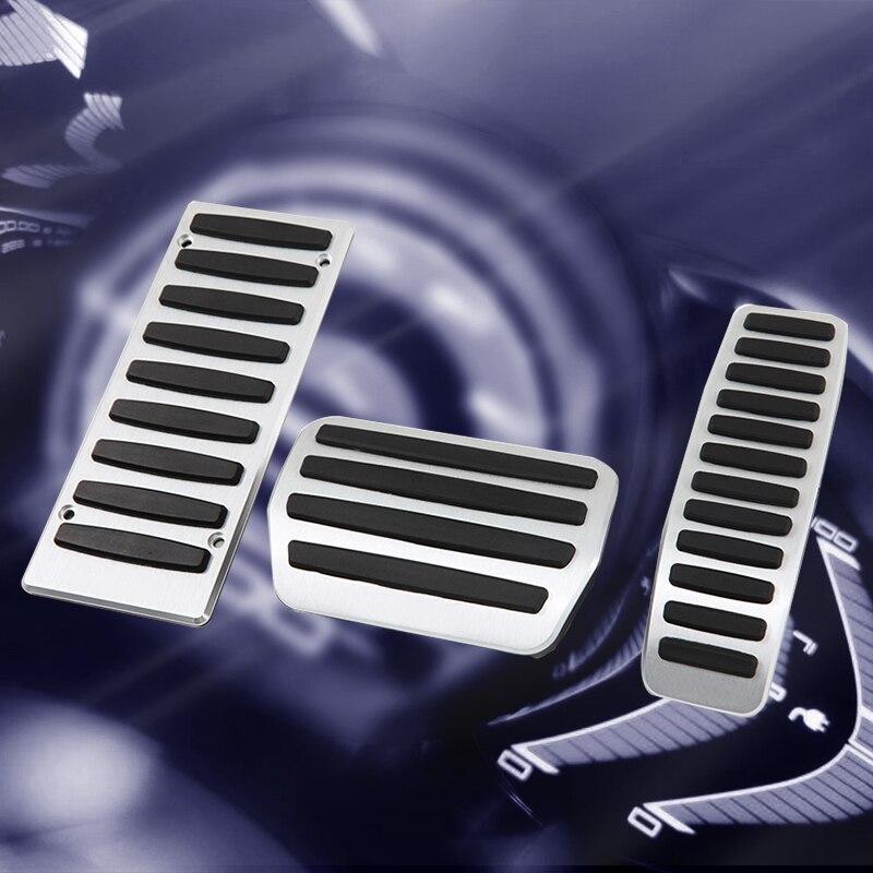 Dywaniki do samochodu gaz i pedał hamulca do Porsche Cayenne/Volkswagen Touareg/Audi Q7 Auto samochód ze stopu aluminium stylizacja akcesoria