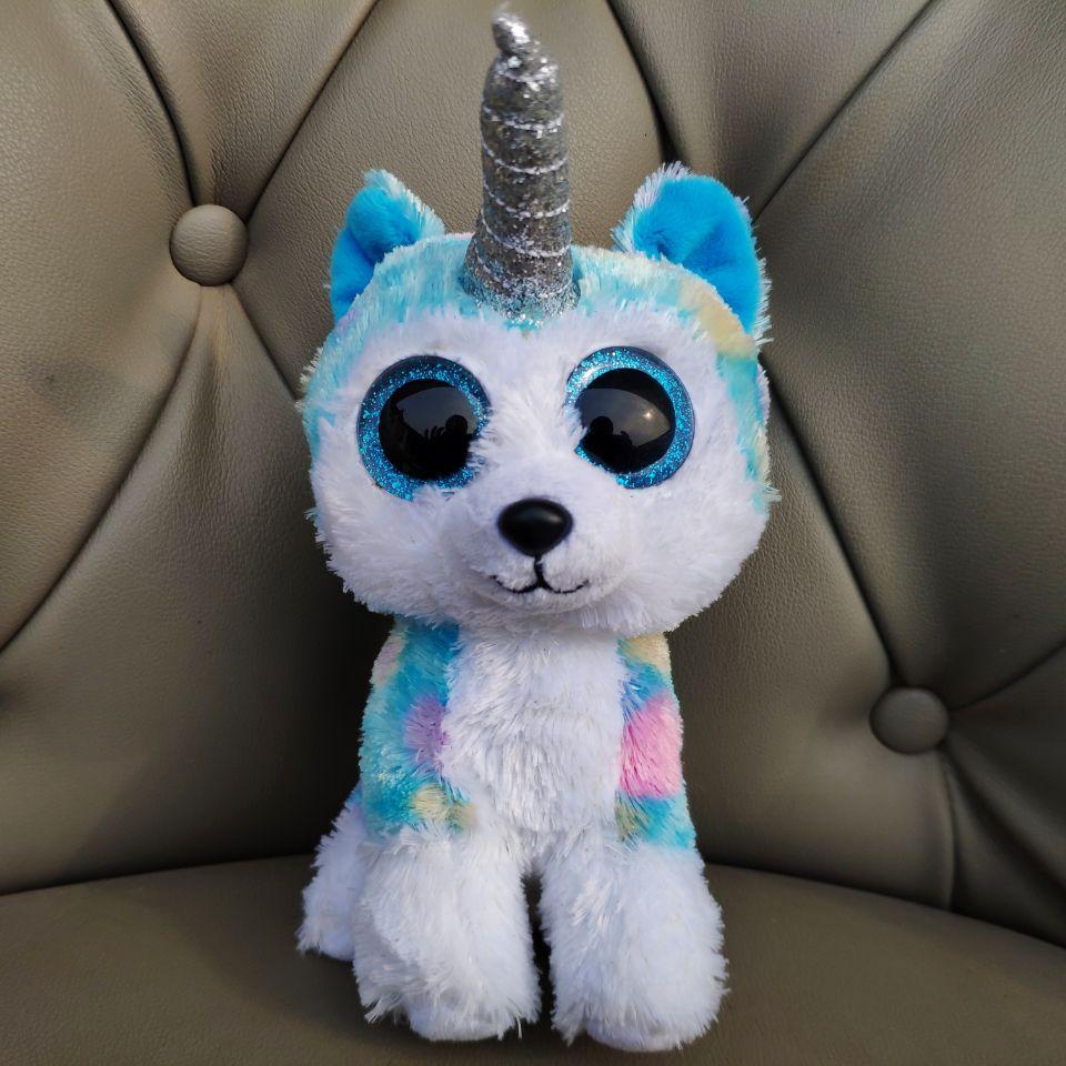 Helena Unicorn Husky Dog 15CM Soft Toys Kids Baby Plush Toys Stuffed Animals Big Beautiful Eyes Girl Gift Real Picture