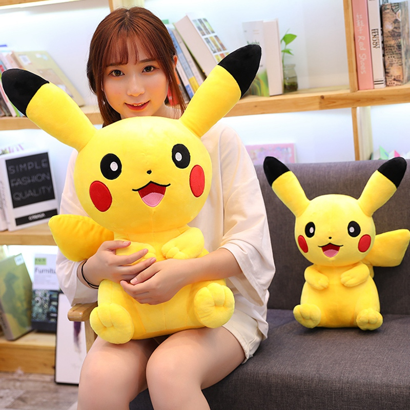 28-65cm Cartoon Cute Pikachu Plush Toys High Quality Soft Stuffed Kawaii Pikachu Anime Dolls Nap Pillow Baby Kids Children Gifts