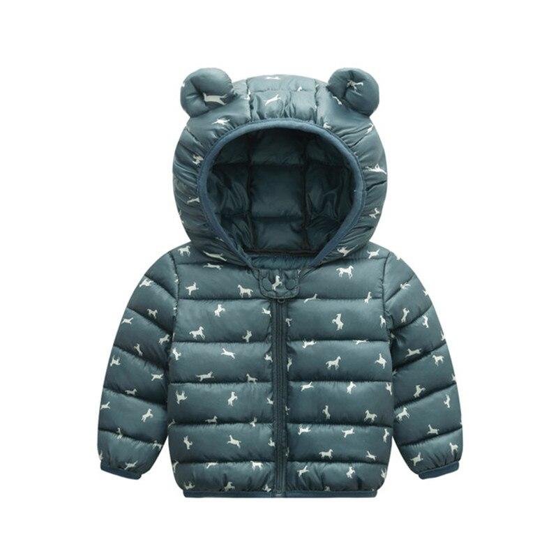 Baby Girls Hooded Down Jackets For Kids Coats Autumn Boys Cartoon Warm Jacket Coat Jacket Toddler Girl Zipper Jacket Outerwear 3