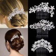 Красивые свадебные аксессуары для волос гребни с кристаллами