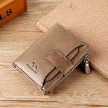 Бумажник кенгуру мужской кожаный бумажник короткий Мужской кошелек