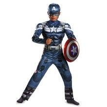 Captain Movie Cosplay Superhero Party Muscle Halloween Carnival Jemma-Leong Kids Boys