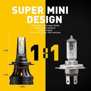 Image 5 - 2PCS H7 LED Headlamp H4 H11 H8 H9 9005/HB3 9006/HB4 9012 HIR2 10000LM 6000K White Car led Headlight Bulbs Fog Lights Car Lights