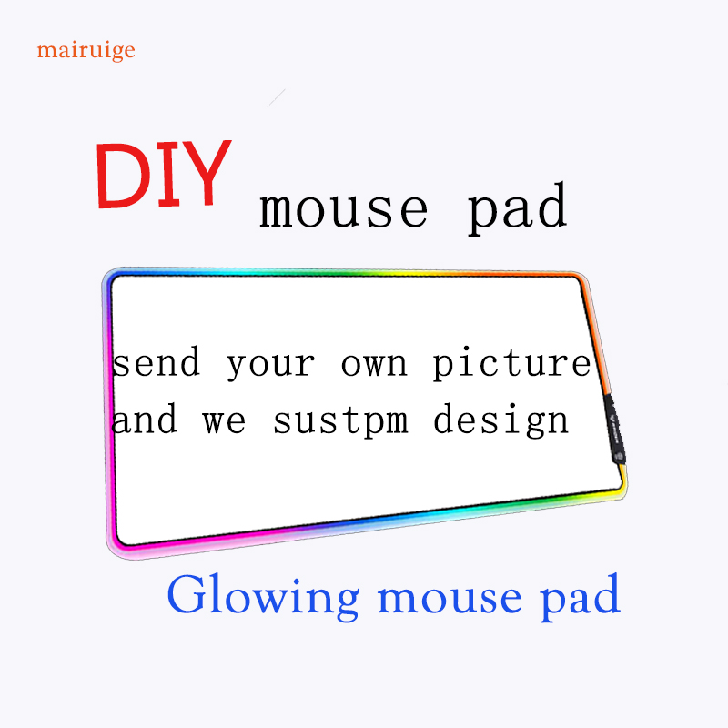 Mairuige DIY <font><b>RGB</b></font> Computer Gaming <font><b>Mouse</b></font> <font><b>Pad</b></font>, Please Send Me Pictures To Make Personalized <font><b>Mouse</b></font> <font><b>Pad</b></font>, <font><b>LED</b></font> Illuminated Keyboard Mat image