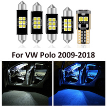 12pcs New Led Bulbs For Volkswagen VW Polo 6R 6C Mk5 2009 2018 Led Interior Light Kit Map Dome Trunk Plate Light Car Accessories
