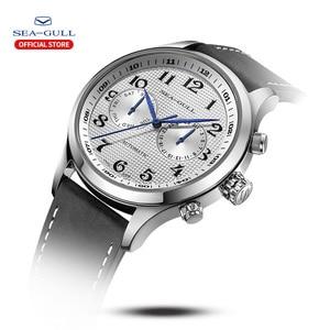 Image 2 - שחף גברים של שעון עסקי מזדמן עמיד למים חגורת גברים של שעון מכאני אוטומטי משולבת 6063 מאסטר סדרה