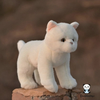 Soft toys children birthday gifts Real life plush British shorthair cat model dolls present toy girlfriend