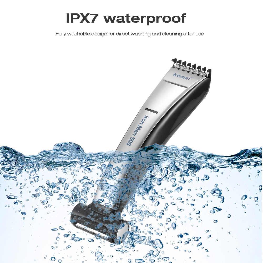 Wet & Dry Isi Ulang Tubuh Perawat Kit Pemangkas Rambut Alat Cukur Listrik Tubuh Wajah Pemangkas untuk Pria Penghilang Rambut Kembali lengan Kaki
