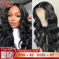 RXY frente de encaje pelucas de cabello humano 250 de densidad de la onda del cuerpo de la peluca con malla Frontal Remy cierre peluca 360 peluca Frontal de encaje para las mujeres de cabello humano