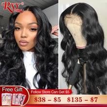 Parrucche frontali per capelli umani in pizzo RXY parrucca anteriore in pizzo con onda del corpo a densità 250 parrucca con chiusura Remy parrucca frontale in pizzo 360 per capelli umani da donna