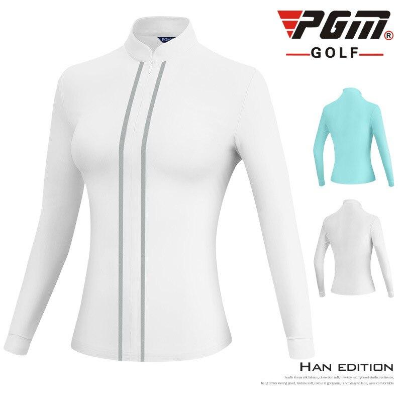PGM Women Golf Clothing Long Sleeve Sports Jacket Windbreaker Ladies Full Zipper Stand Collar Coat Golf Training Apparel