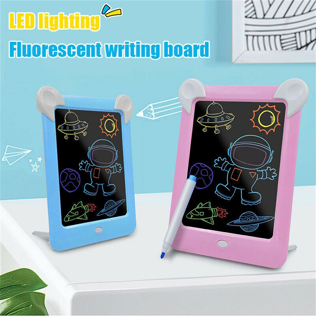 2020 Computer Peripherals 3d Drawing Pad Writing Board Toys With Stylus Colorful Led Tablet Kids Компьютерная Периферия #56