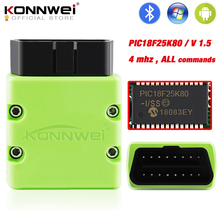 KONNWEI ELM327 V 1,5 OBD2 Scanner KW902 Bluetooth Autoscanner PIC18f25k80 MINI ULME 327 OBDII KW902 Code Reader für Android Handy