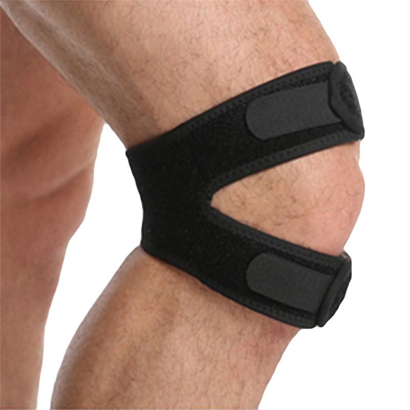 1PC Knee Brace Protector Sport Tool Fully Adjustable Strap Sport Knee Pads Belts New