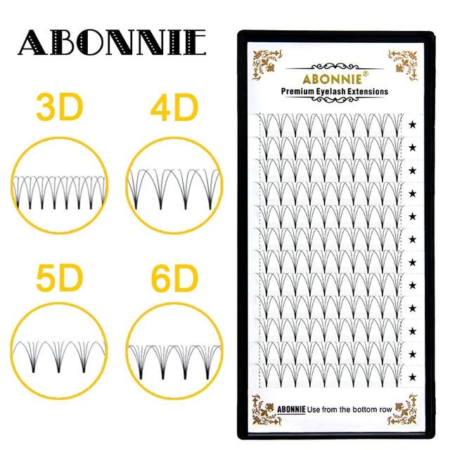 premade volume fans short stem 3d/4d/5d/6d russian  eyelash extension cilios for professionals soft mink eyelash 3