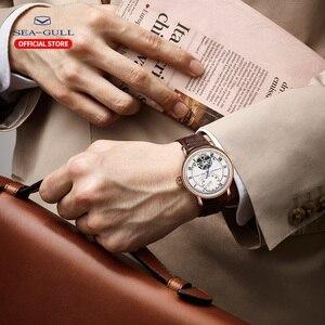 Image 5 - Martı erkek saati çift zaman dilimi kemer su geçirmez otomatik mekanik saat Master serisi 519.11.6041