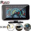 Universal Auto 3 IN 1 LCD 12 v/24 v Lkw Auto Öl Manometer Voltmeter Spannung Wasser Temperatur kombination Tisch Mit Sensor-in Öl-Manometer aus Kraftfahrzeuge und Motorräder bei