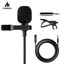 MAONO Lavalier Microphone with 6M Extension Cable Condenser Microphone Handsfree Clip on for iPhone Android Smartphone DSLR Cam