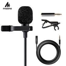 Mikrofon krawatowy MAONO z przedłużaczem 6M mikrofon kondensujący zestaw głośnomówiący Clip on na iPhone smartfon z androidem DSLR Cam