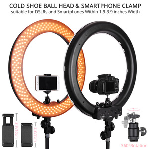 Image 3 - Travor photo studio ring light 14 inch 18 inch LED ringlight Camera Phone Photography lighting dimmable Ring Lamp With Tripod