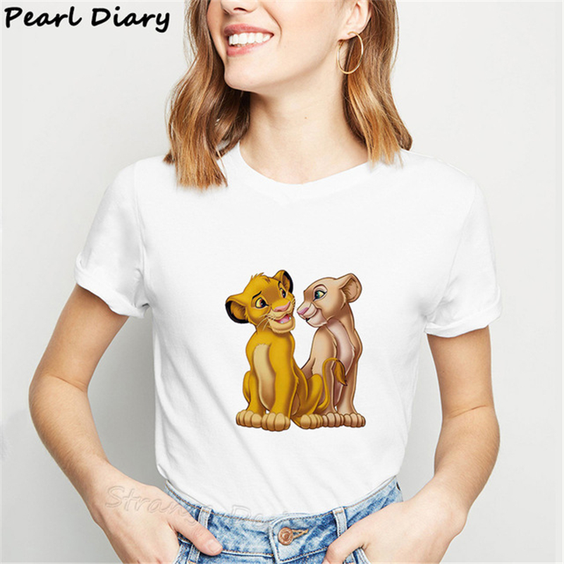 Summer New Casual HAKUNA MATATA Ullzang Lion King Simba Printed Women T Shirt Harajuku Solid Short Sleeve Top Tee