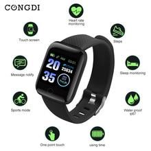 CONGDI – montre connectée 116plus D13, moniteur de fréquence cardiaque et de pression artérielle, avec écran haute résolution de 1.3 pouces