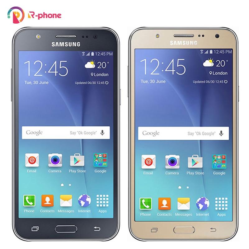 "Samsung-teléfono inteligente Galaxy J7 4G LTE libre, Original, J700F, Dual Sim, 13MP, 16G ROM, 5,5 "", renovado, Android"