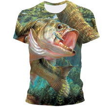 2021 New Style 3D Animal Fish Print Hip Hop Cool Handsome T-Shirt For Men And Women XXS-6XL