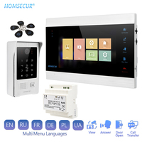 HOMSECUR 7 Hands free Video&Audio Home Intercom 1.3MP with Silver Camera for House/Flat Russian Menu