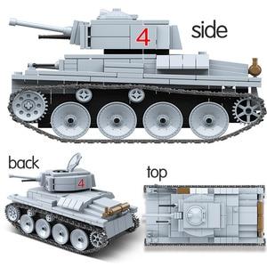 Image 2 - 535 個 technik LT 38 ライト戦車ビルディングブロック軍事陸軍市兵士フィギュア武器レンガ男の子のおもちゃ子供