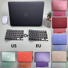 Hard Shell Matte Laptop Case For Apple Macbook Air Pro Retina M1 Chip 11 12 13 15 16 inch Case For 2020 Pro 13 A2338 A2251 A2289