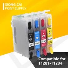 цена на Refill T1281 Ink Cartridge For Epson S22 SX125 SX130 SX235W SX420W SX440W SX430W SX425W SX435W SX438 SX445W BX305F SX230 printer