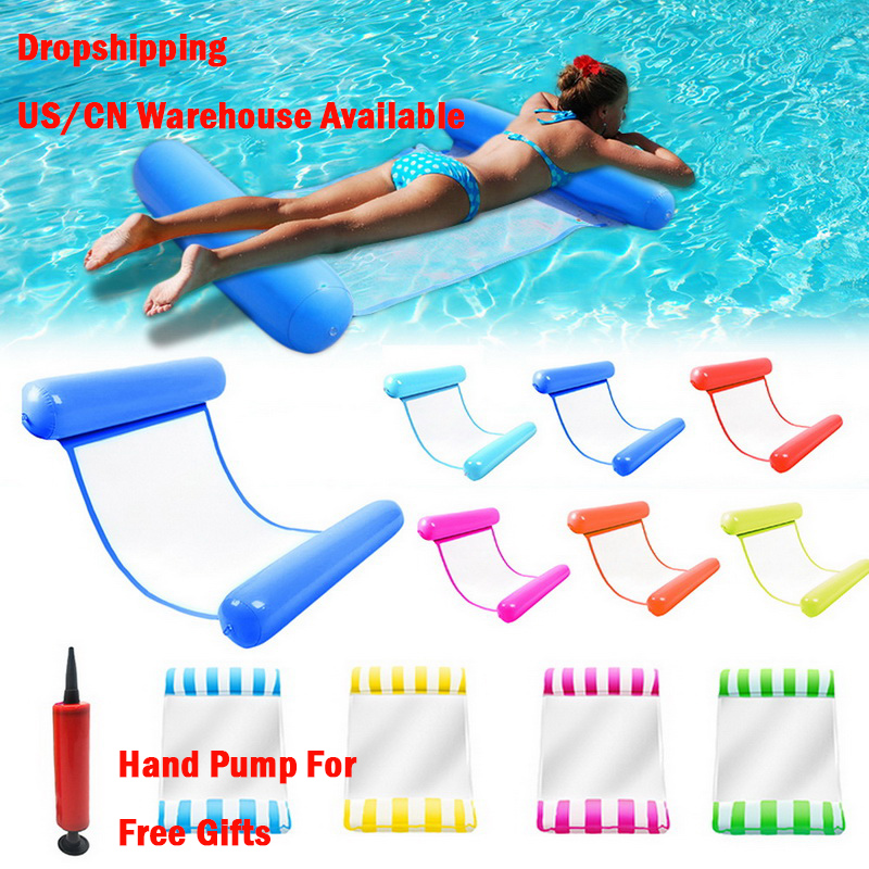 Hot Sale Summer Water Hammock Water Toys Recliner Foldable Inflatable Floating Bed Swimming Pool Floating Swimming Mattress Sea