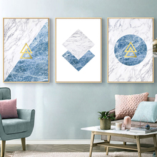 Abstract Geometric Scandinavian Canvas Paintings Nordic Posters Prints Gallery Wall Art Pictures for Living Room Home Decoration