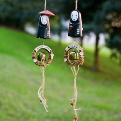 1pc Cute NO FACE Faceless Man Windbell Wind Chime Metal Bell Kids Action Figure Collection Model Toys kids Gifts