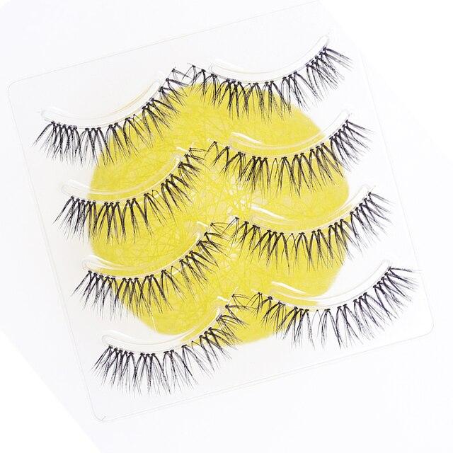 YOKPN New Japanese Pointed Tail False Eyelashes Super Natural Simulation Eye Makeup Eyelashes Long-lasting Eye Makeup Tools 2