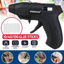 Wireless Glue Gun With 100PCS Wax Stick Cordless Hot Melting Glue Guns Repair Tool USB Rechargable High Temp Heater Glue Gun Set