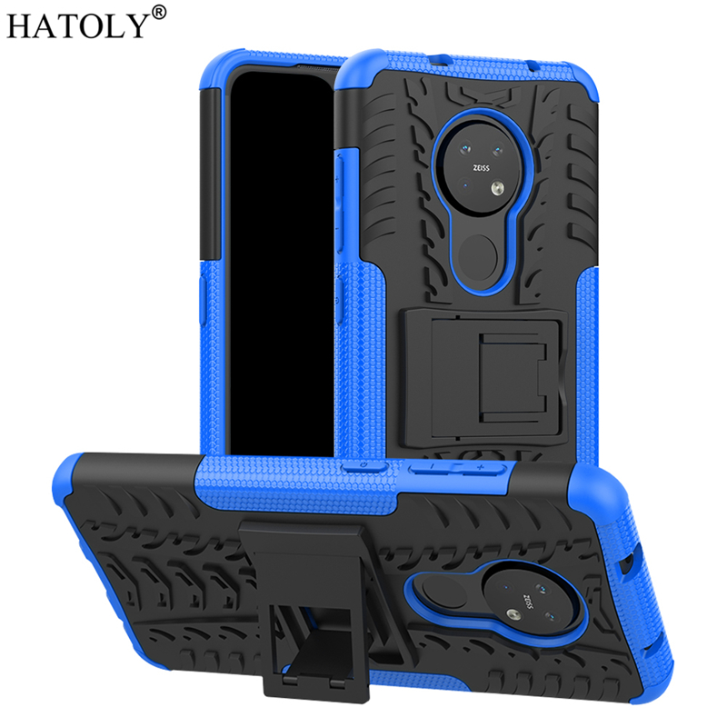 For Nokia 6.2 Case Cover Anti-knock Heavy Duty Hard Armor Stand Cover