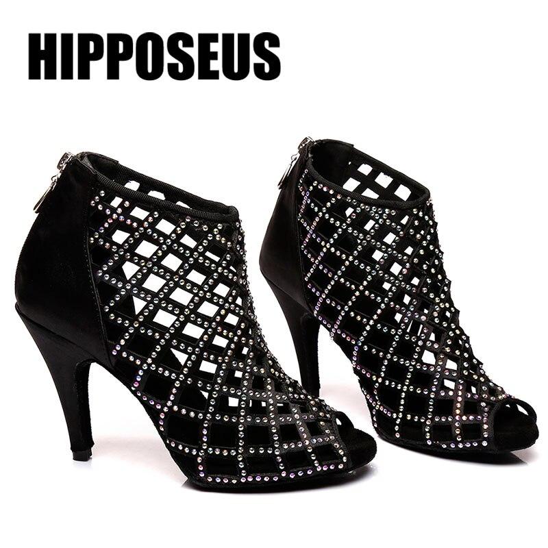 Dance Shoes For Latin Dance Women Shoes Professional Girls Ballroom Dance Ladies Tango Salsa 6/7.5/8.5/9/10cm Heel Dancing Shoes