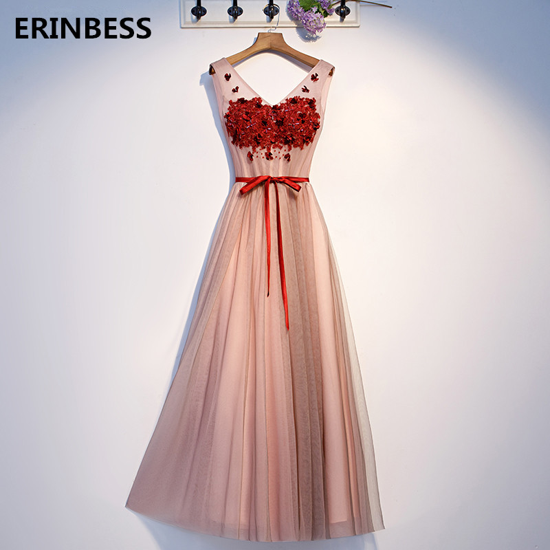 Real Photos   Prom     Dress   Vestido De Festa 2020 New Fashion Vintage V-Neck Lace Appliques Beaded A-line Long   Prom     Dresses