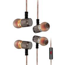 Kz EDR1 イヤホンノイズリダクションハイファイ低音ステレオイヤフォンゴールドメッキ 3.5 ミリメートル有線スポーツ音楽携帯電話マイクヘッドセット