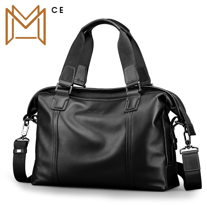 Genuine Leather Man Soft Leather Man Single Shoulder Package Leisure Time Business Affairs Capacity Oblique Satchel